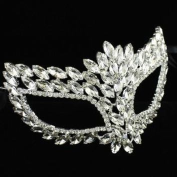 *[ETC]-Clear Gem Stones Masquerade Mask-Clear