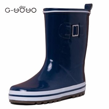 Toddler Boys Blue Rain Boots Mid-calf Boots