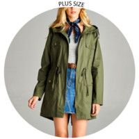 Alicia Hooded Trench Coat
