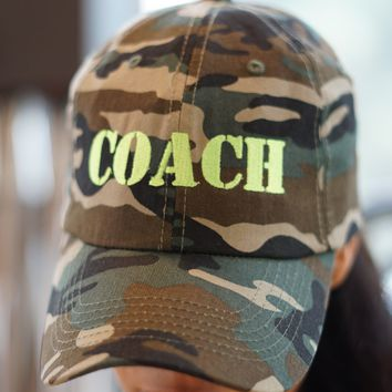 Coach polo dad hat, jungle