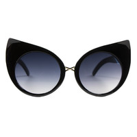 KITTY EARS BLACK SUNGLASSES