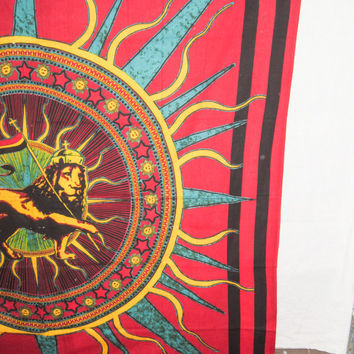 Hippie  Wall Hanging , Indian Sun lion Fly Mandala Tapestry Throw Bedspread Queen Bed Decor Sheet Ethnic Decorative Art Hippy gypsy decor