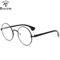 Vintage Glasses Women Designer Frame Round Eyeglasses Reading Optical Oculos Gafas
