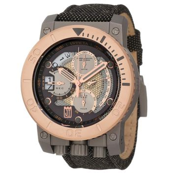 Invicta 13049 Men's Jason Taylor Corduba Rose Gold Bezel Grey Dial Chronograph Dive Watch
