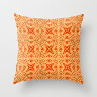 Orange Flowers Throw Pillow by 2sweet4words
