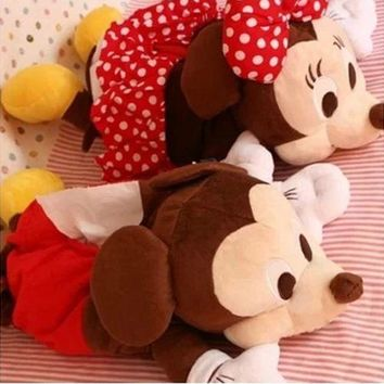 Aeruiy cute plush red mickey/minnie/black cat/white cat/stitch paper extraction toy,home/car decoration,creative birthday gift