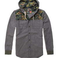 Modern Amusement Caviar Quilted Hooded Long Sleeve Woven Shirt at PacSun.com