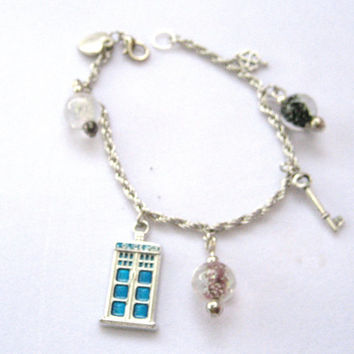 Silver Inspired by doctor who Van gough episode W/ glow in the dark glass beads