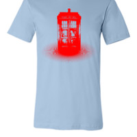 red tardis - Unisex T-shirt