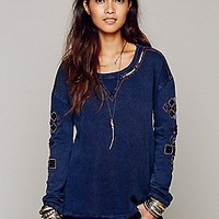 Free People  Embellished Pullover at Free People Clothing Boutique