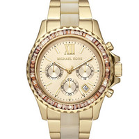 MICHAEL Mid-Size Two-Tone Stainless Steel Everest Chronograph Glitz Watch