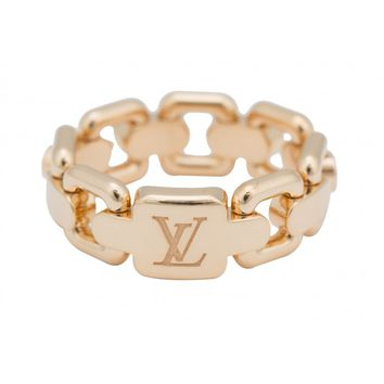 Louis Vuitton 18K Yellow Gold Chain Link Ring