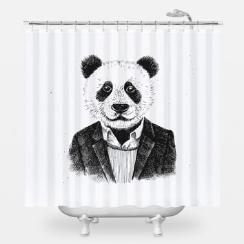 Panda Man Shower Curtain