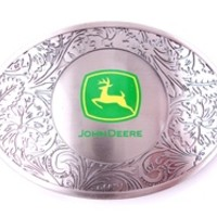 Western with John Deere Logo Belt Buckle