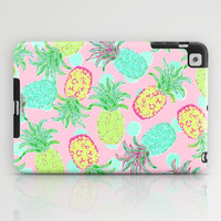 Pineapple Pandemonium Tropical Spring iPad Case by Lisa Argyropoulos | Society6