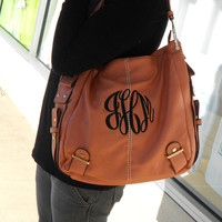 MONOGRAM Purse Leather like Font shown MASTER CIRCLE in black