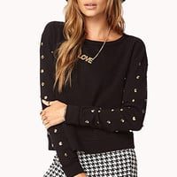 Glam Studded Top | FOREVER 21 - 2072757511