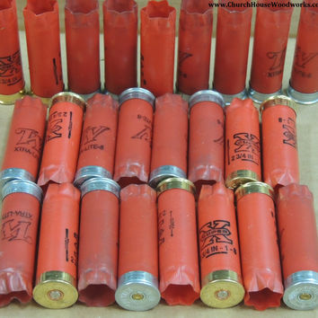 25 RED 12 Gauge Used Empty Shotgun Shells