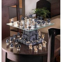 Stunning Black Tower Dragon Chess Set