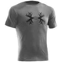 Under Armour UA Antler Tee - Men's Small - True Gray Heather / Black