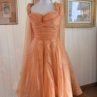 Hight fashion 1950s dress, JACQUES HEIM, made in France