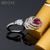 Stylish Gift New Arrival Shiny Jewelry Feather Strong Character Accessory Ring [4989632900]
