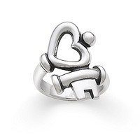 James Avery Key to My Heart Ring - Silver 9