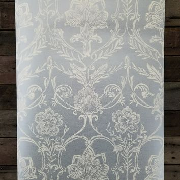 Sheer Fabric Damask Wallpaper