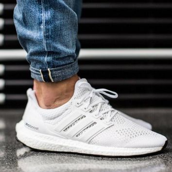 """""""Adidas"""" Trending Women Men Casual Running Sport Casual Shoes Sneakers Pure White I"""