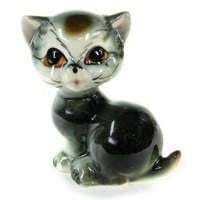Kitty Cat Figurine / Made in Japan / Vintage Antique Collectible Ceramic Animal