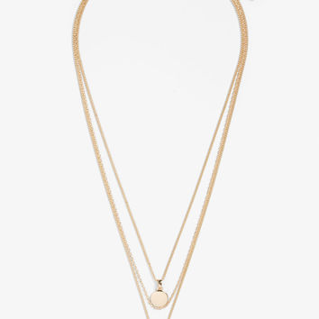 Three-chain charm necklace - Goldish metallic - Jewellery - Monki GB
