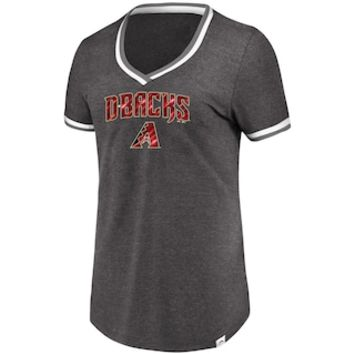 Women's Majestic Arizona Diamondbacks Stripe Trim Tee | null