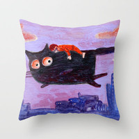 sleeping boy Throw Pillow by Marianna Tankelevich | Society6