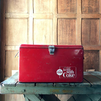 Vintage Coke Cooler, Coca Cola Cooler, Coca Cola Collectibles, Coke Collectables, Metal Cooler, Vintage Cooler