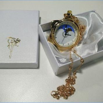 Sailor Moon Crystal Tuxedo Mask Cosplay Necklace Star Locket Pocket Watch Gift