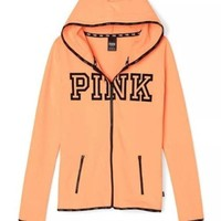Victoria's Secret PINK printing hooded pattern and long sleeved sweater
