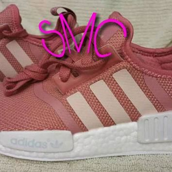 Pre-order Adidas nmd pink raw Women's shoes Originals Custom Sneakers