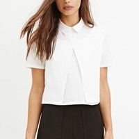 Layered Boxy Collared Top