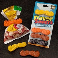 Flavor Savers Mustache Chip Clips - Whimsical & Unique Gift Ideas for the Coolest Gift Givers