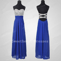 Glamorous High quality beads Chiffon satin Prom Dresses