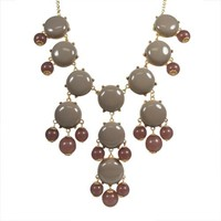 Bubble Necklace,Statement Necklace, Bubble Jewelry(Fn0508-Grey) | AihaZone Store