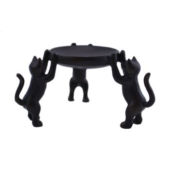3 Kitty Cat Candle Holder