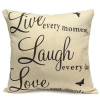 """16"""" Cushion Modern Cover Arabic Letter Square Pillow Case"""