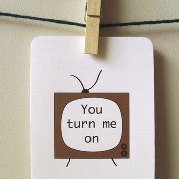 You Turn Me On by 4four on Etsy