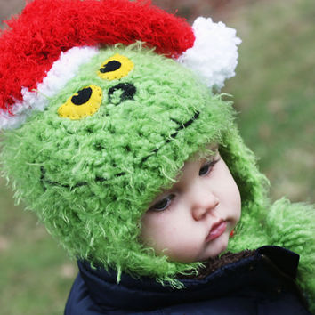 Mr Grinch Hat  Christmas Photo Prop  Choose size 03 by NoraAndFinn