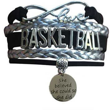 Basketball She Believed She Could So She Did Infinity Bracelet