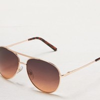 AEO Women's Ombre Tinted Aviator Sunglasses (Rose Gold)
