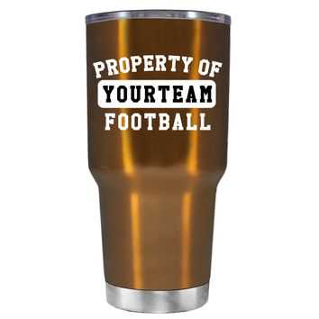 TREK Property of Football Personalized on Copper 30 oz Tumbler Cup
