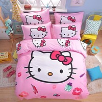 Kids Hello Kitty Bedding Set with Duvet Cover