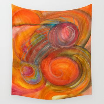 Sounds of Watercolors I Wall Tapestry by ViviGonzalezArt